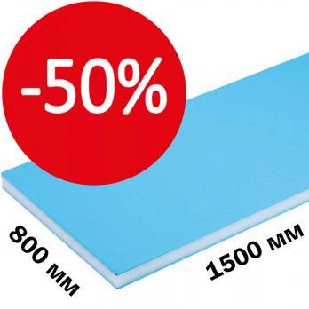 Сэндвич-панель для откосов 800х1500х10 мм (пластик 0,4) белая, шт